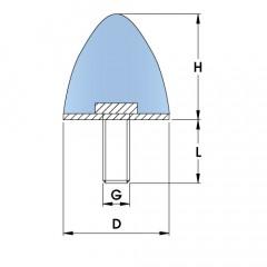 Parabolic Progressive Rubber Buffers