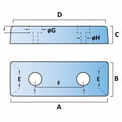 Polymax Trapezium Buffer (2 Fixings)