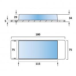 Aluminium Tipper Pad 180L x 75W x 34H at Polymax