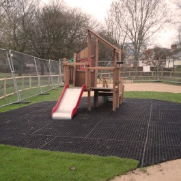 EASI Grass Mat in Playground Application