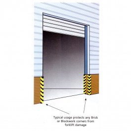 Corner Fenders Protect Brick Work and Door Ways