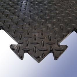 DIAMEX LOK Garage Tile Black 470mm x 470mm x 14mm at Polymax