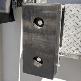 Example of a 2-Hole Bumper on Loading Bay