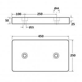Dock Bumper Packer 2 Holes 450L x 250W x 50H at Polymax