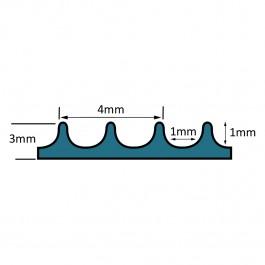 FINA PRO Fine Ribbed Matting Roll Technical Drawing