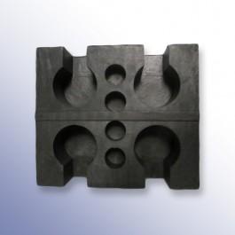 Underside of rubber block
