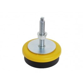 Levelling foot rubber mount