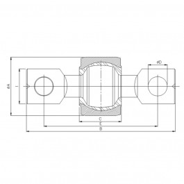 Polymax KSV 067 Anti-Vibration Ball Joint Technical Drawing