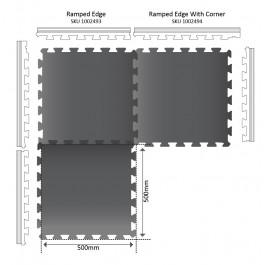 MINI POWER Gym Mat 500mm x 500mm x 16mm Technical Drawing