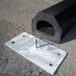 Polymax Kerb Floor Mounted Buffer - w/ Plate