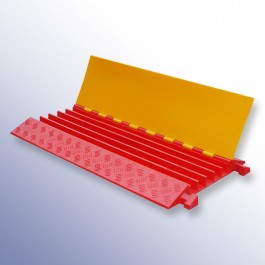 Polyurethane Extra Strength Cable Protector 900L x 500W x 55H (5 Channels, 42mm x 42mm, 40 Tonnes)  at Polymax