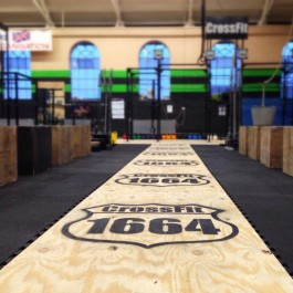 Large Power Tiles at CrossFit Event