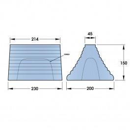 Pyramid Wheel Chock Hollow 230L x 150W x 200H  at Polymax
