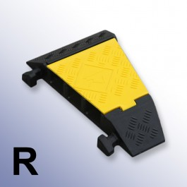 Right Corner Cable Protector 310L x 500W x 75H (3 Channels, 65mm x 65mm, 20 Tonnes) at Polymax