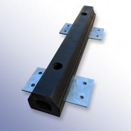 Rubber Extruded Kerb 660L x 100W x 100H at Polymax