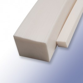 Silicone Solid Square Strips White 10mm 60ShA at Polymax