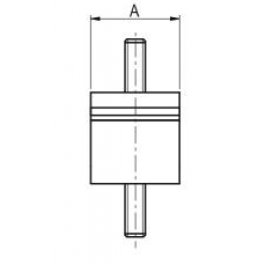 Double U Shear Mount Drawing 2