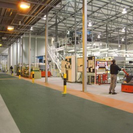Multi Coloured Warehouse Flooring