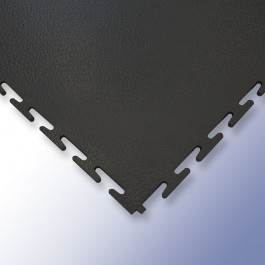 VIGOR Interlocking Morphic Tile Black 500mm x 500mm x 7mm at Polymax