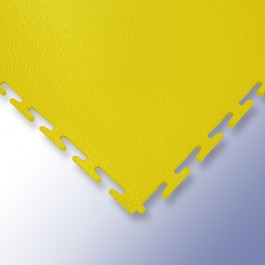 VIGOR Interlocking Morphic Tile Yellow 500mm x 500mm x 7mm at Polymax