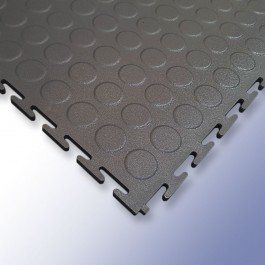 VIGOR Interlocking Studded Tile Dark Grey 500mm x 500mm x 7mm at Polymax