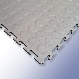 VIGOR Interlocking Studded Tile Light Grey 500mm x 500mm x 7mm at Polymax