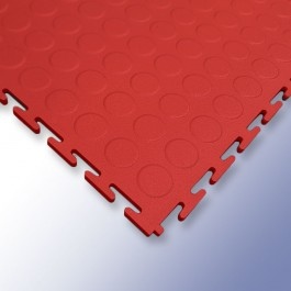 VIGOR Interlocking Studded Tile Red 500mm x 500mm x 7mm at Polymax