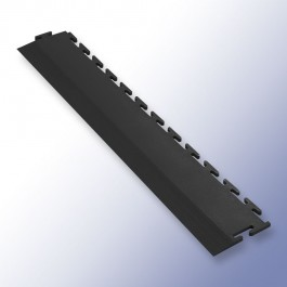 VIGOR Interlocking Tile Edge Black 500mm x 75mm x 7mm at Polymax