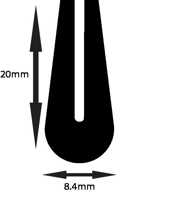 Soft Profiles To Suit 1.5mm P404 60 ShA Black