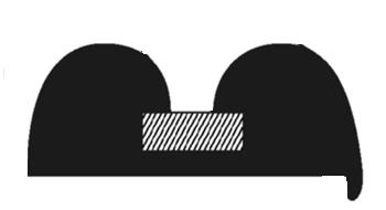 Black PVC B-Fender 15000L x 39W x 16H