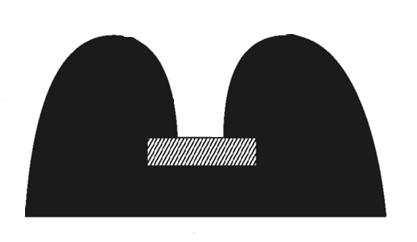 Black PVC B-Fender 15000L x 60W x 30H