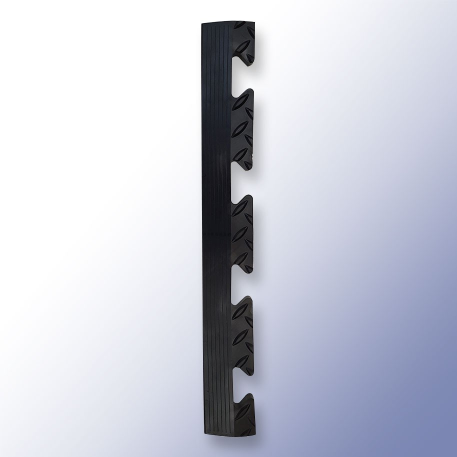 DIAMEX LOK Garage Tile Female Edge Black 500mm x 59mm x 14mm