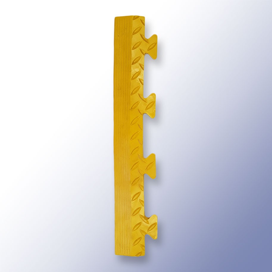 DIAMEX LOK Garage Tile Male Edge Yellow 500mm x 85mm x 14mm