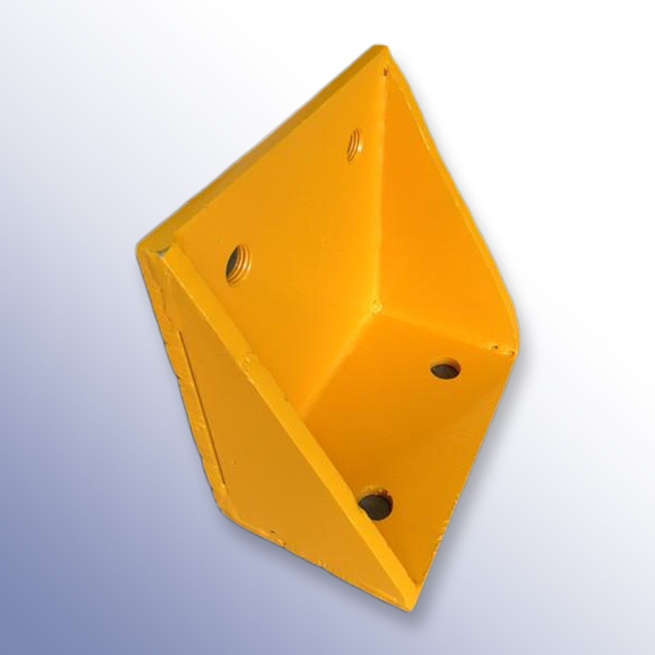 Dock Bumper Angle Bracket Yellow 250L x 250W x 150H