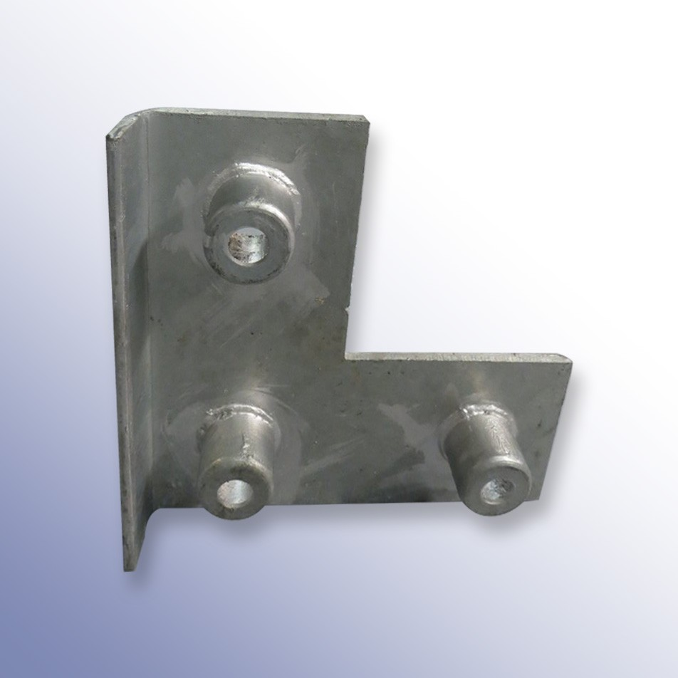 L-Shaped Front Plate Steel 440L x 440W x 62H