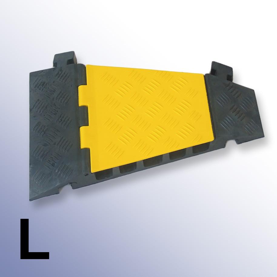 Left Corner Cable Protector 310L x 500W x 55H (5 Channels, 42mm x 42mm, 18 Tonnes)