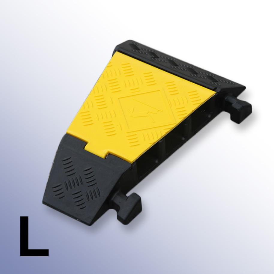 Left Corner Cable Protector 310L x 500W x 75H (3 Channels, 65mm x 65mm, 20 Tonnes)
