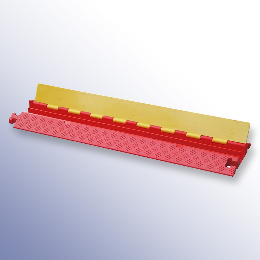 Polyurethane Extra Strength Cable Protector 1000L x 250W x 45H (2 Channels, 35mm x 35mm, 40 Tonnes)
