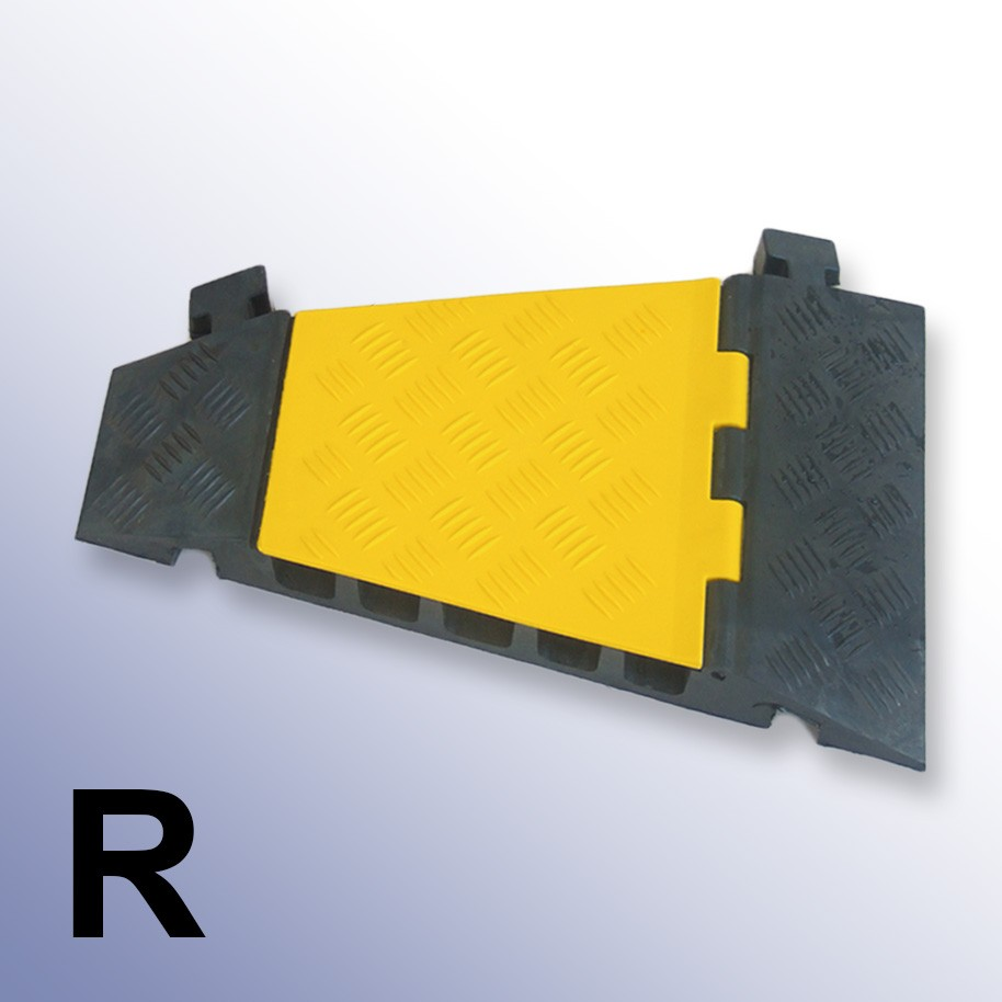 Right Corner Cable Protector 310L x 500W x 55H (5 Channels, 42mm x 42mm, 18 Tonnes)