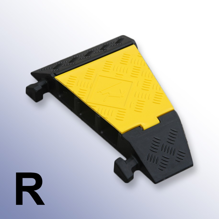 Right Corner Cable Protector 310L x 500W x 75H (3 Channels, 65mm x 65mm, 20 Tonnes)