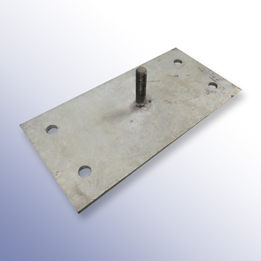 Rubber Extruded Kerb Fixing Plate 250L x 125W x 4H