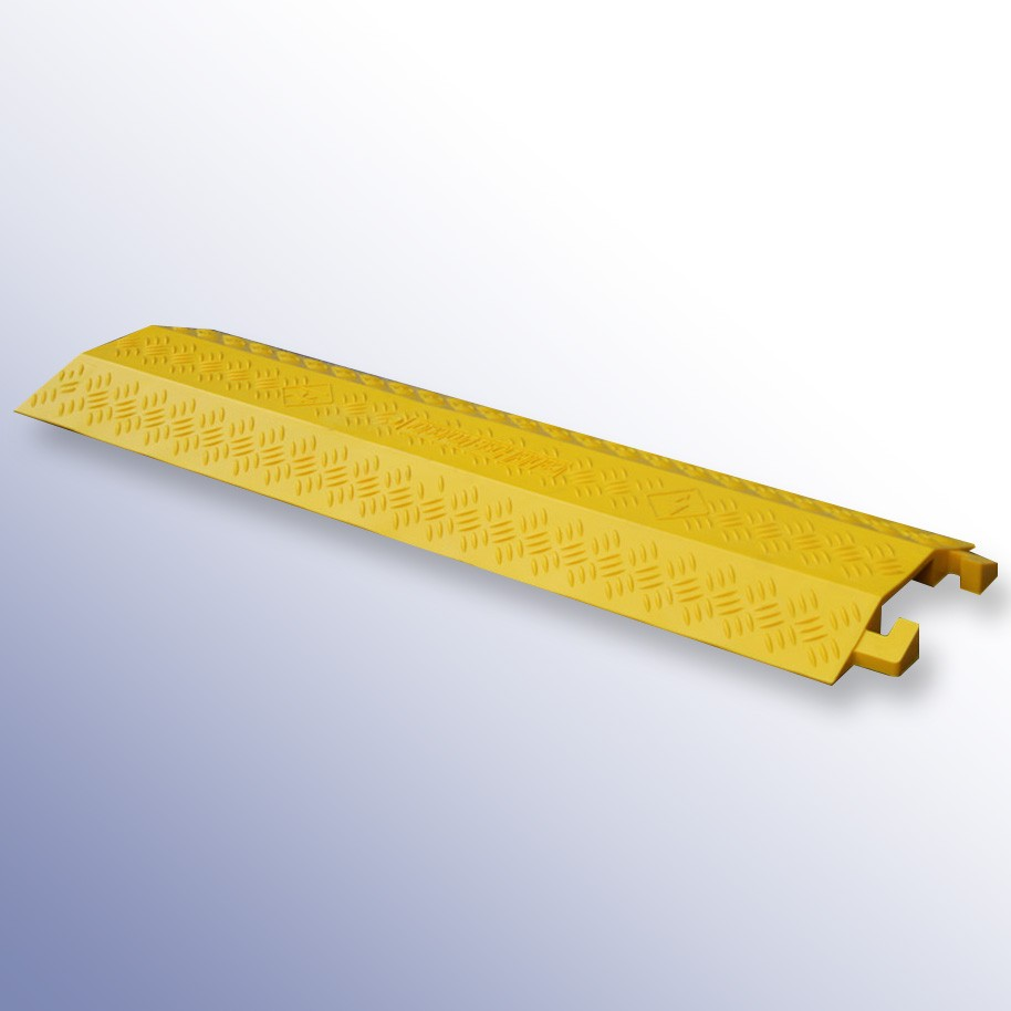 Shallow Cable Cover Yellow LPDE 1000L x 135W x 20H (1 Channel, 40mm x 12mm)