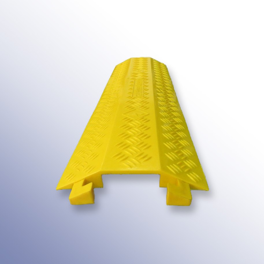 Shallow Cable Cover Yellow PU 1000L x 275W x 40H (1 Channel, 100mm x 30mm)