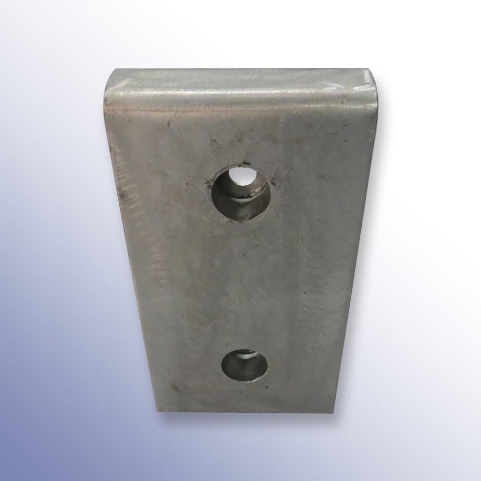 Trapezium Dock Bumper Front Plate 2 Fixings Steel 415L x 215W x 62H
