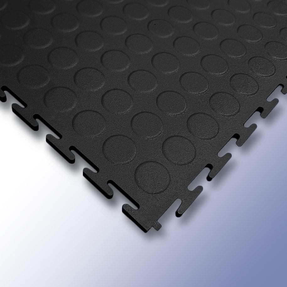 VIGOR Interlocking Studded Tile Black 500mm x 500mm x 7mm