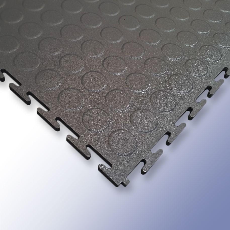 VIGOR Interlocking Studded Tile Dark Grey 500mm x 500mm x 7mm