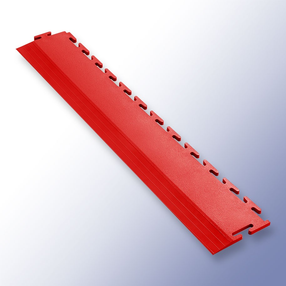 VIGOR Interlocking Tile Edge Red 500mm x 75mm x 7mm