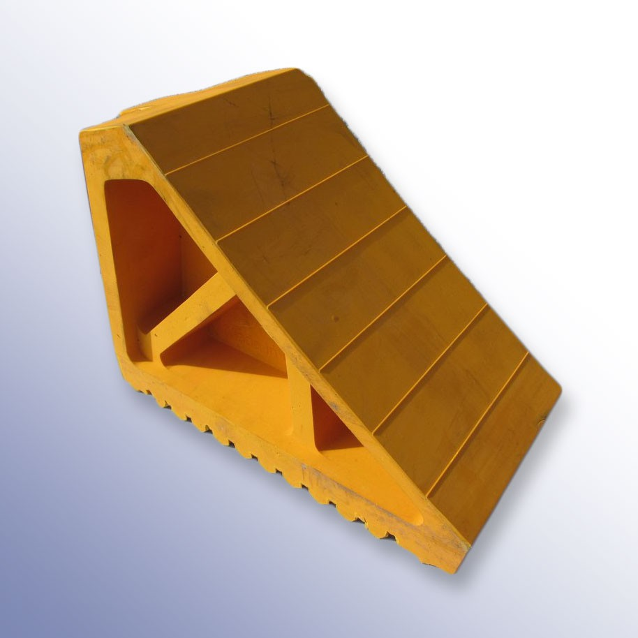 Yellow Wheel Chock 270L x 120W x 185H