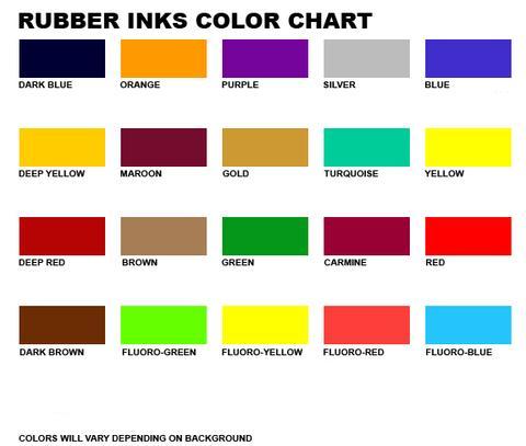 Polymax Mud Flap Printing Colours