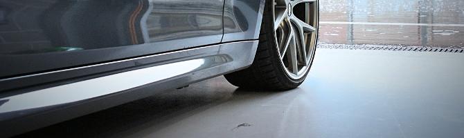 Garage Floor Paint in Application